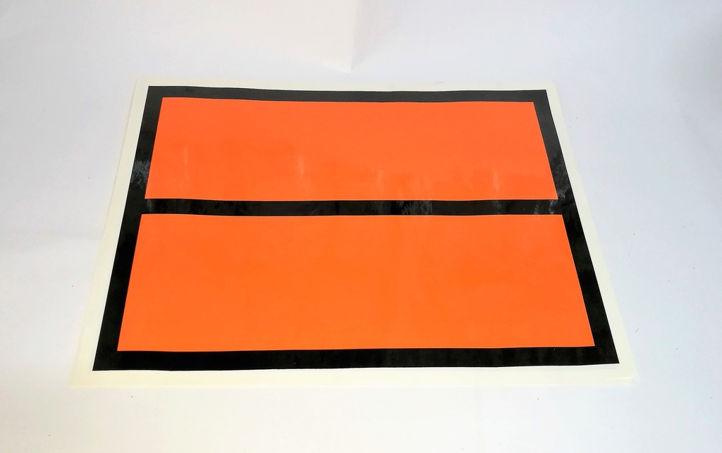 PANEL NARANJA 400X300 REFLECTANTE (SIN TEXTO) Pack 10 Uds